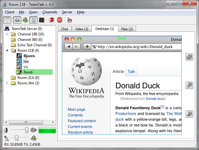 TeamTalk Desktop Sharing