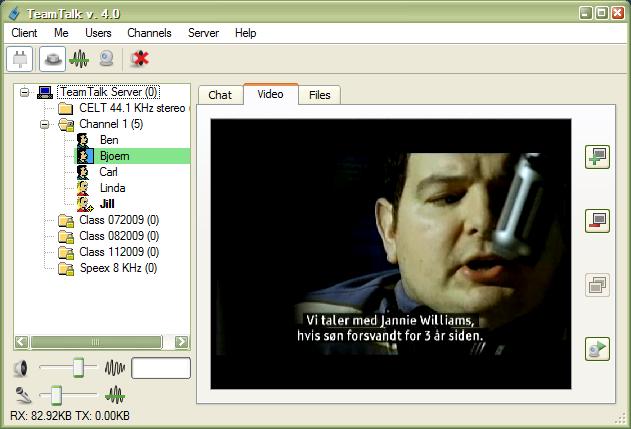 TeamTalk 4 SDK Screenshots – BearWare dk
