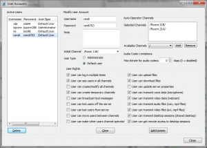 Example application assigning user rights